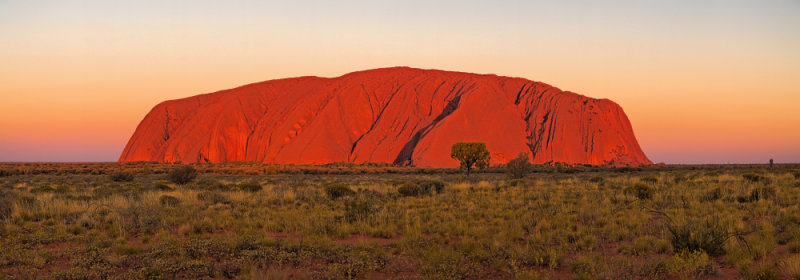 Uluru at sunset - fine art panorama