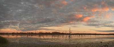 Sleeping Buddha & Lake Kununurra Sunset