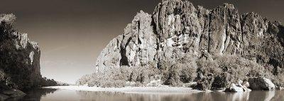 Windjana Gorge reflection duotone panorama