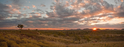 Purnululu Landscape against the setting sun