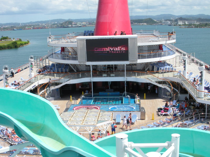 Victorys Lido deck with Seaside Theater