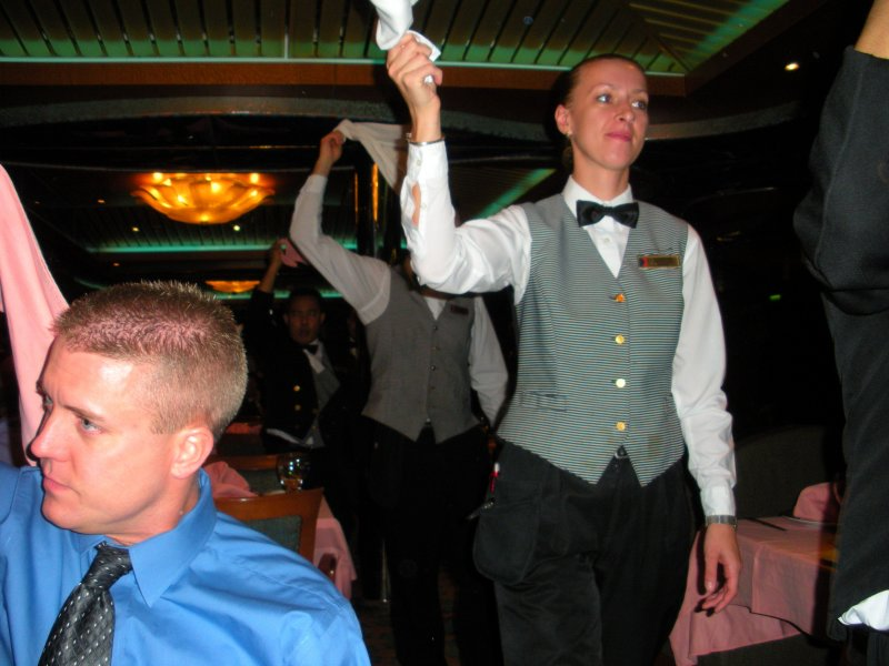 The dancing waiters