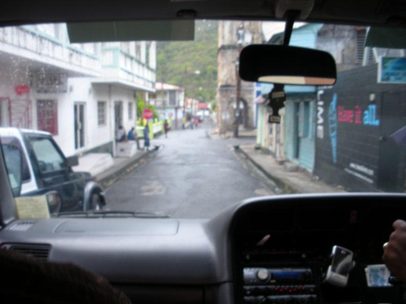 Narrow roads on St. Lucia