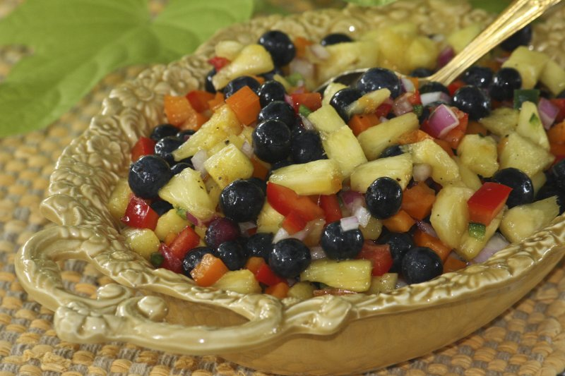 Zesty  Blueberry and Pineapple Medley