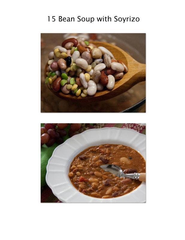15 Bean Soup with Soyrizo