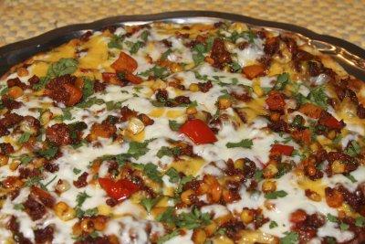 Southwestern Chorizo and Corn Pizza
