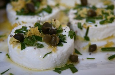 Goat Cheese with Olive Oil, Herbs and Lemon