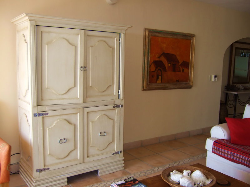 Living Room Armoire with TV Inside