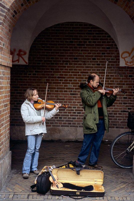 Musicians at Købmagergade