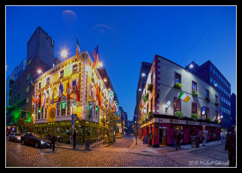 Nightfall in Dublin