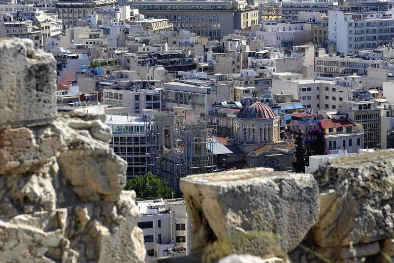 Acropolis view to Athens