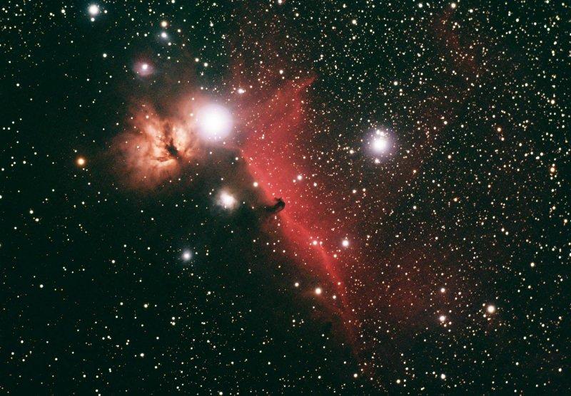 Horse Head and Flame Nebula Complex