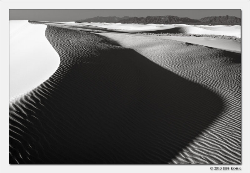 Dune Shadow, White Sands National Monument, New Mexico, 2010
