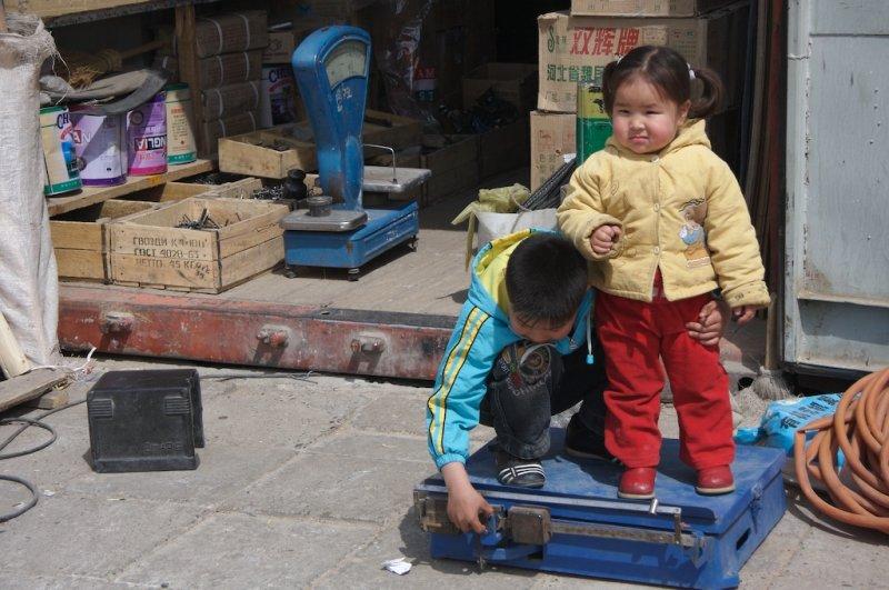 Karakorum market (the children were not for sale).