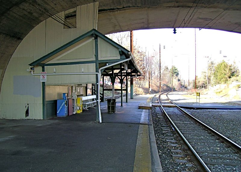 The passenger shed, from the east<br>00397