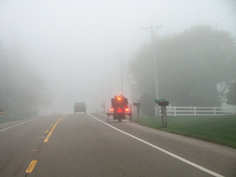 a little fog this morning