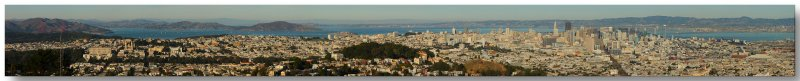 19 shot pano from Twin Peaks