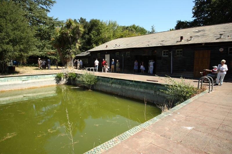 Main pool and pool house