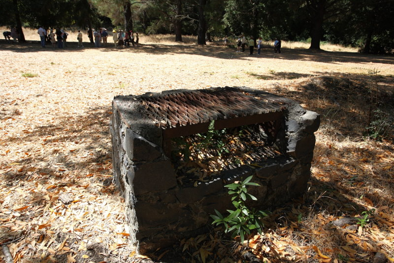 Abandoned barbecue pit