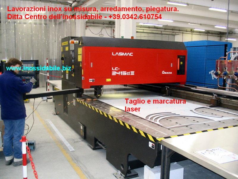 Laser cut - Taglio laser su acciaio inox e altri metalli