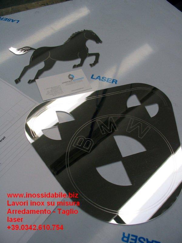 taglio laser su misura da files dxf inox lucido