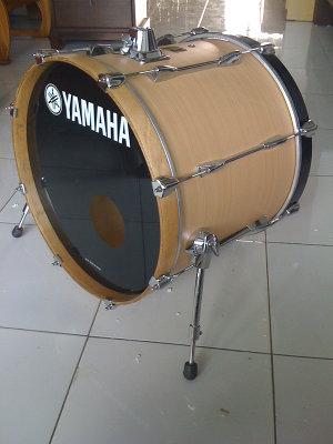 Wts yamaha stage custom mic bass drum 20 dan sonor double for Yamaha bass drum decal