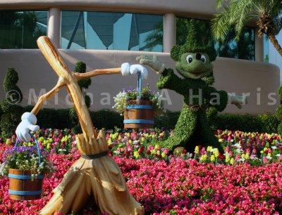 Fantasia Floral Display at EPCOT