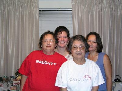 Mom, Regina, Joyce and Grandma.