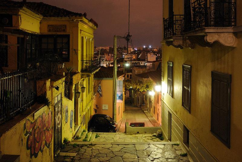 Athens. Streets near Acropolis