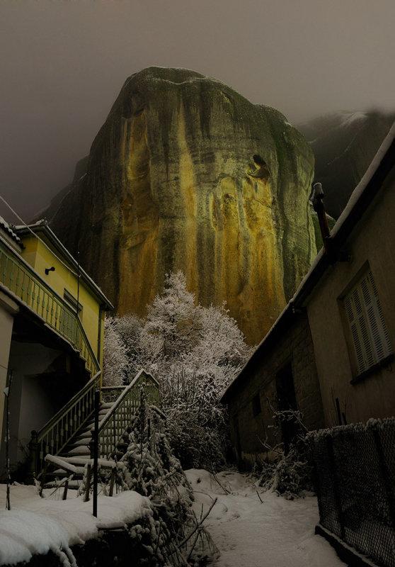 Meteora. Kastraki village