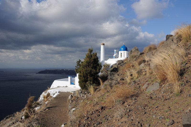 Santorini. Theoskepasti church