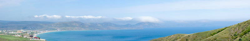 Crimea. View on Koktebel town