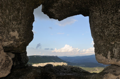 Crimea. Cave town Mangup