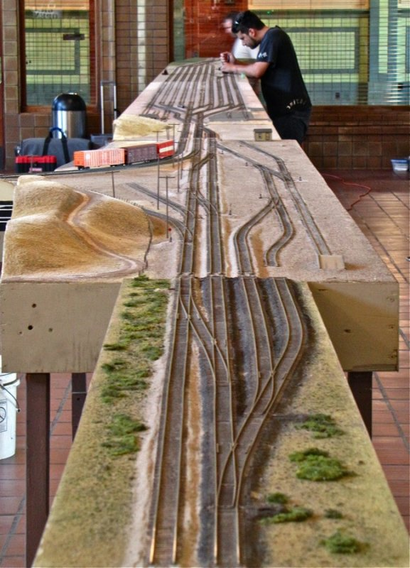 60 feet of straight track.