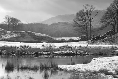 Cumbria under heavy frost