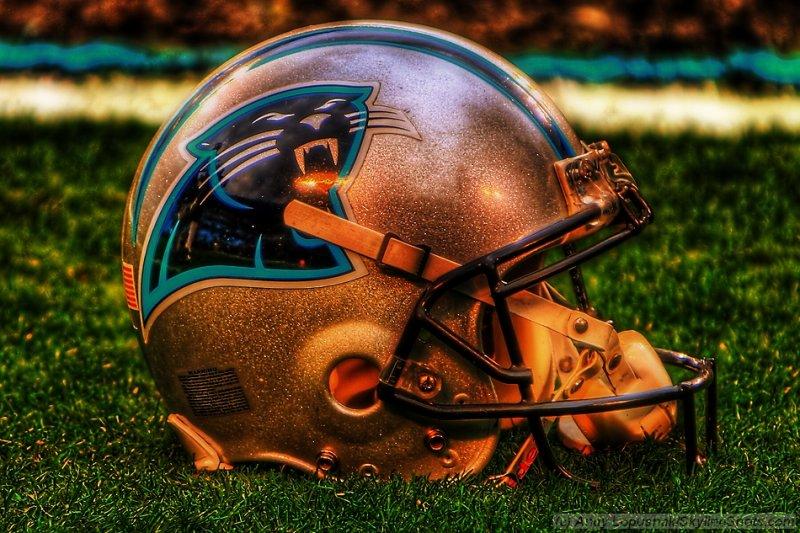 Carolina Panthers helmet in HDR