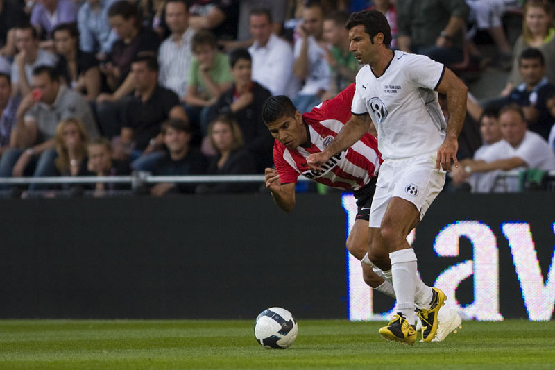 Luis Figo and Carlos Salcido
