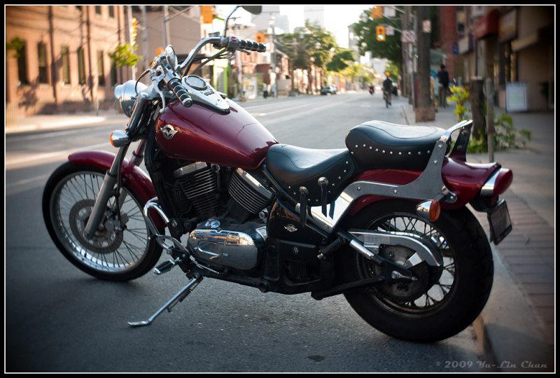 Motorcycle -- wide aperture
