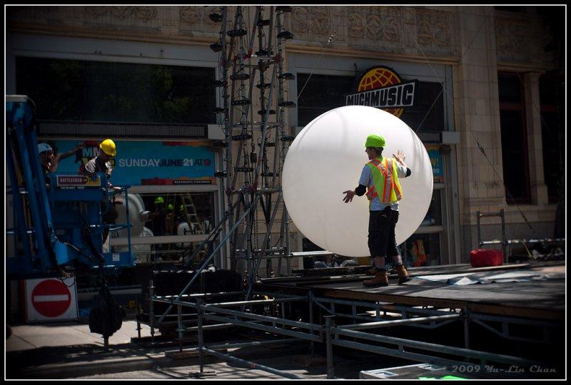 Giant white ball