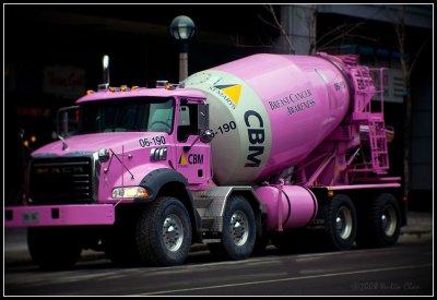 Pink Cement Truck