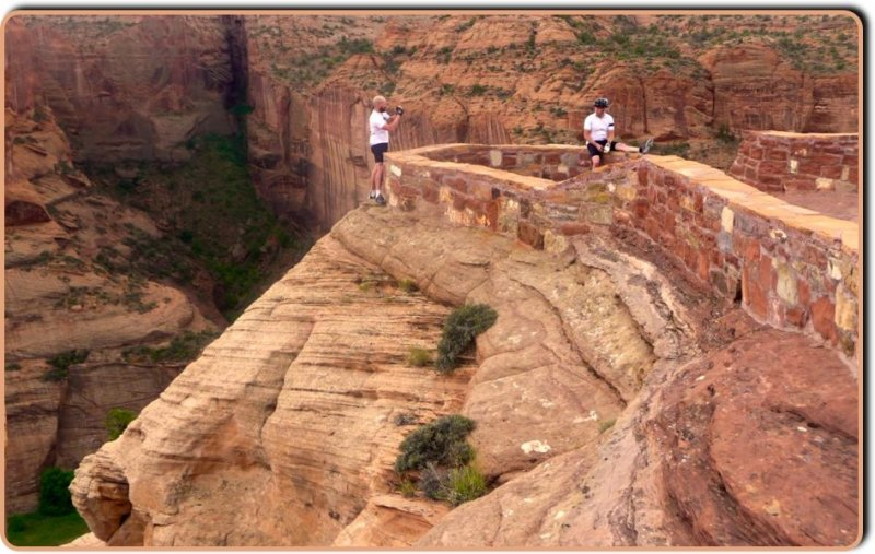 Posing at the Antelope Ruins Overlook