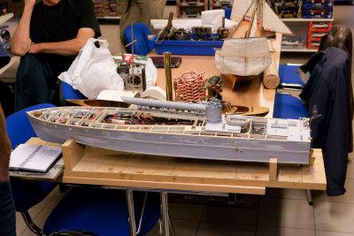 Noe for oss: En scratchbygd Thornycroft torpedobåt fra 1942. Dette er _tredje_ forsøk fra modellbyggerens side.