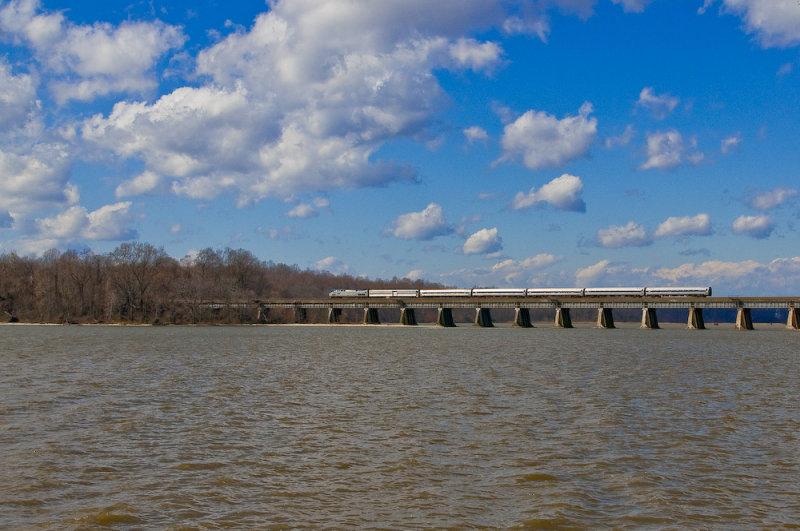 Amtrak crossing Powells Creek at Leesylvania State Park, VA