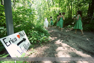 Beach wedding, Indiana Dunes State Park, wedding ceremony, beach, wedding party