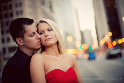 Engagement Photography in downtown Chicago on Michigan avenue.