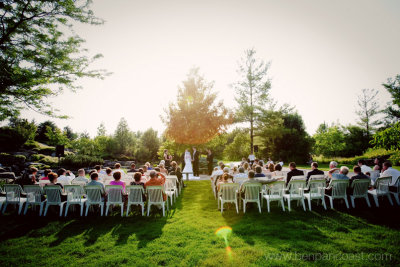 Waterfall Ceremony At Frederick Meijer Gardens Wedding