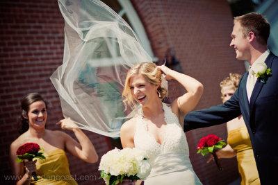 Lawrence, Michigan, Bride, Veil, wind