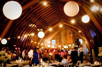 Blue Dress Barn Wedding Reception Dancing Party