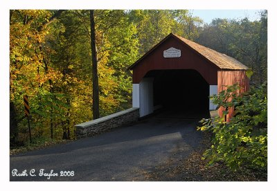 Last Light on Frankenfield Covered Bridge
