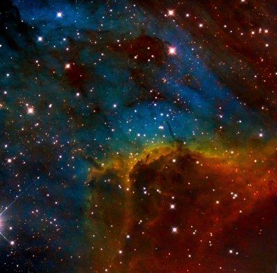 The pelican nebula in SHO (Hubble palette)